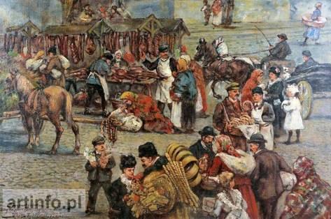 Тадеуш Рибковський. Торг на площі Бернардинській у Львові, 1922 рік