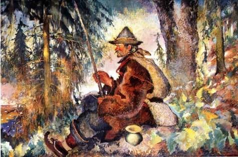 Казимир Сіхульський. Гуцульський рибалка
