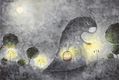 Експозиція виставки Світлани Юрченко «Спостерігай з середини»