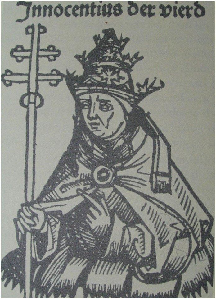 Інокентій IV ( *1190 — †7 грудня 1254) — Папа Римський з 25 червня 1243[2]. Справжнє ім'я Сінібальдо де Фіескі. Граф Лаваньї.