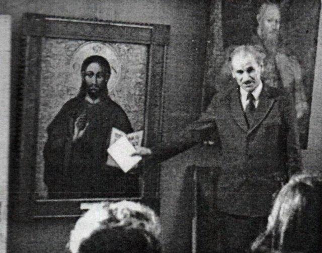 Обговорення експозиції Олеського замку, грудень 1975 року