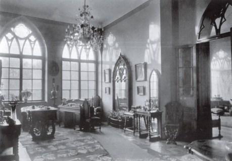 Внутрішній інтер'єр палацу Туркулів-Комелло. Фото 1920-х рр.