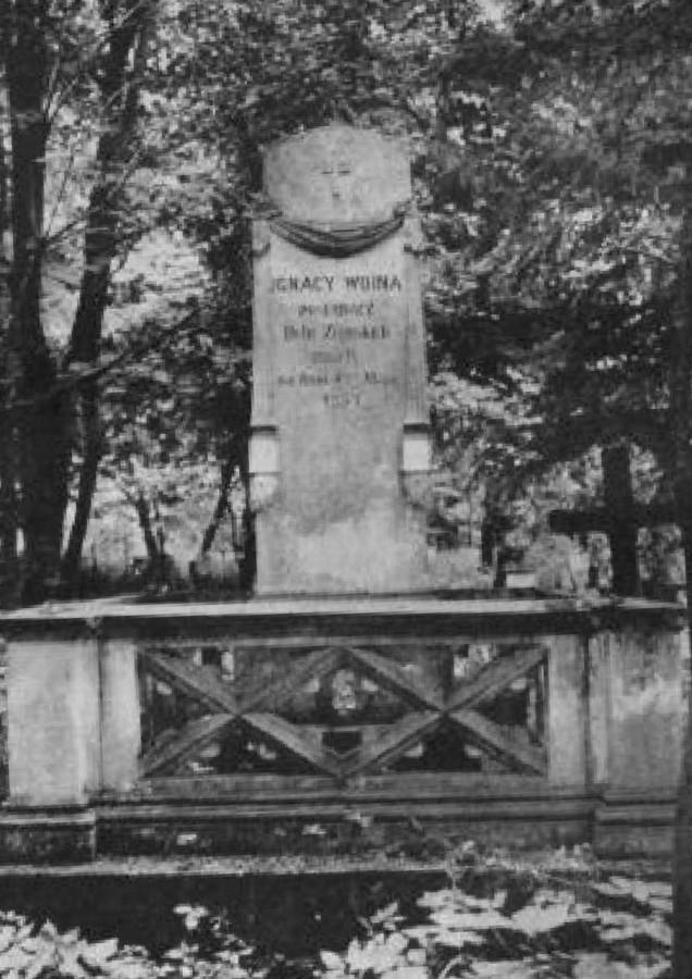 Гробівець Ігнація Войни на Стрийському кладовищі. Фото до 1911 року