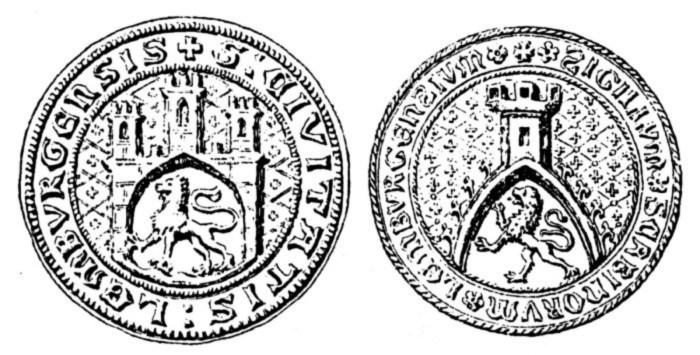 Найдавніші печатки львівських урядовців (1359 р.). Фото з photo-lviv.in.ua