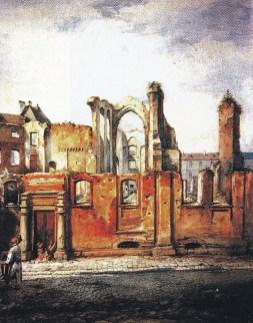 В.Грабовський. Руїни костелу францисканців, 1870