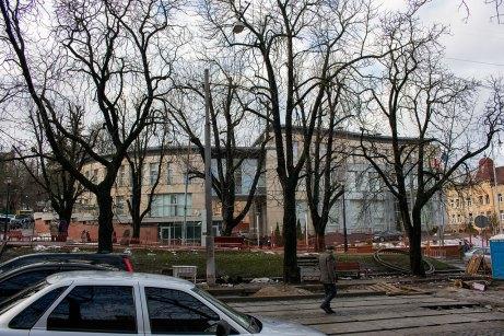 Збіг вулиць І. Франка, І. Свєнціцького та Паркової, 2016 рік