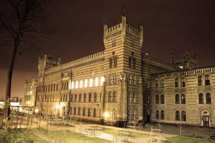 Нічний вигляд Університету Безпеки Життєдіяльності. Сучасне фото