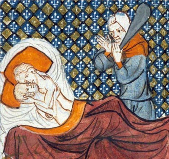 Середньовічне зображення подружньої зради