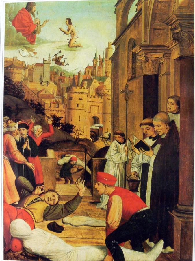 Чума на зображенні з XV століття