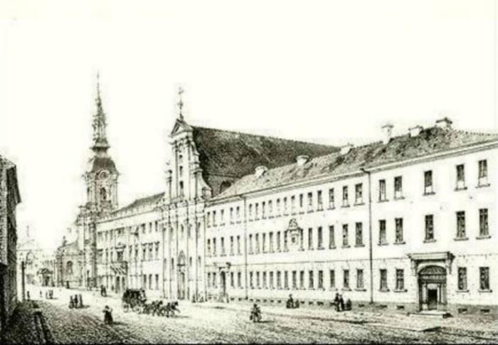 Єзуїтський колегіум у Каліші. Фото 1858 року