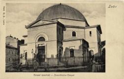 Прогресистська синагога Темпль у Львові. Листівка 1906 року
