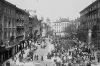 Базар з західної сторони площі Ринок. Фото першої пол. XX ст.