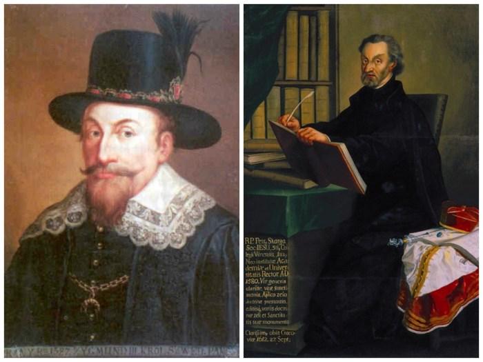 Король Сигізмунд ІІІ Ваза і єзуїт Петро Скарга