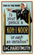 Koh-i-noor Hardtmuth, реклама 1900-ті роки