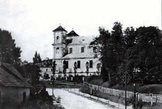 Костел Марії Магдалини до перебудови веж. Фото 1860-1870 рр.
