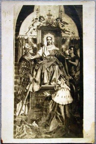 Образ Діви Марії в оточенні княгині Кінги та св. Станіслава (джерело фото https://stryjskastarovyna.wordpress.com/page/2/)
