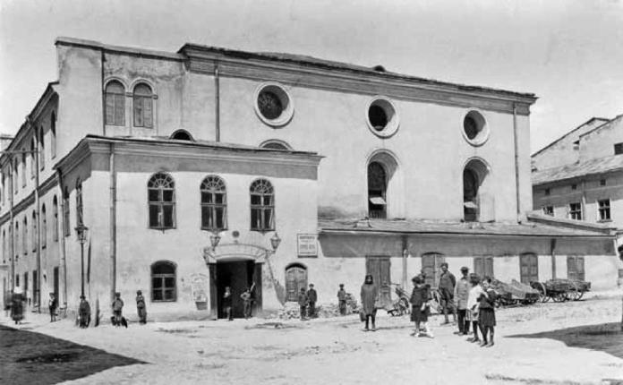 Велика передміська синагога на вул. Сянській. Фото 1921 року