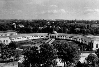 """""""Підкова"""" під час с/г виставки. Фото 1957 року"""