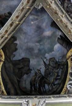 Падаюча комета на сцені Різдва Христового. Можливо, автор зобразив падаючу комету 1769 р., хвіст якої можна було спостерігати довгий час. Малюнок виконаний 1771 р. Латинська катедра
