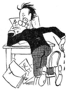 Карикатурист «Зиза» Еко при праці