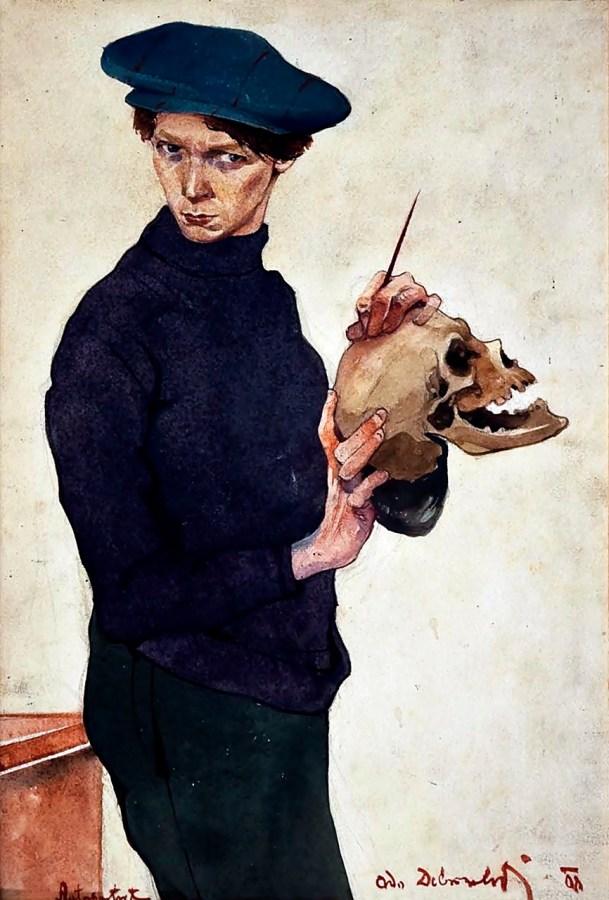 Одо Добровольський. Автопортрет, 1908