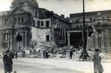 Львівський вокзал після бомбардування у вересні 1939 року