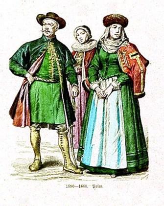 Представники бідної шляхти носили більш скромний одяг, проте намагалися дотримуватись європейських стандартів. Кінець XVI – поч. XVII ст.