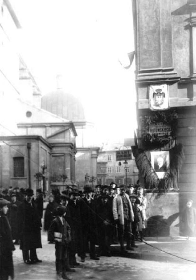 Вулиця Тетральна названа ще за життя Рутовського його іменем у 1916 році. Фото 1916 року