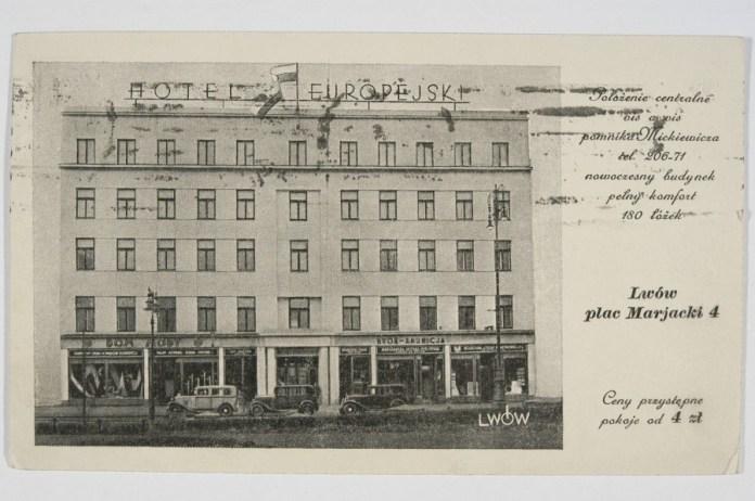 Готель Європейський після перебудови 1935 року. Фото 1935-1939 рр.