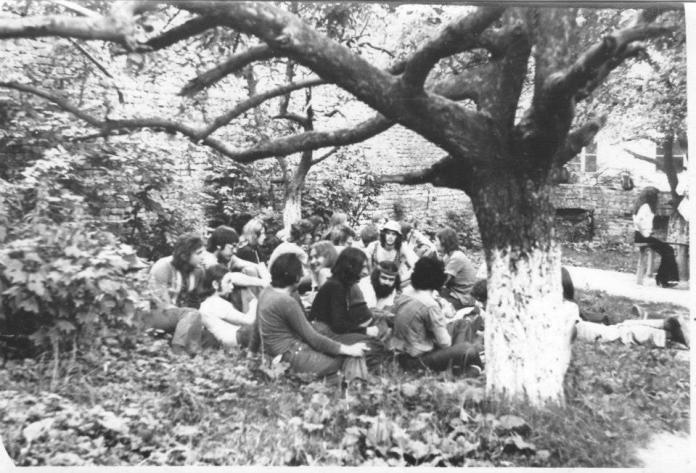 Хіпі в Святому Саду. Фото 1970-1980 рр.