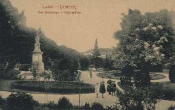 Пам'ятник Я.Кілінському в Стрийському парку. Фото початку XX ст.