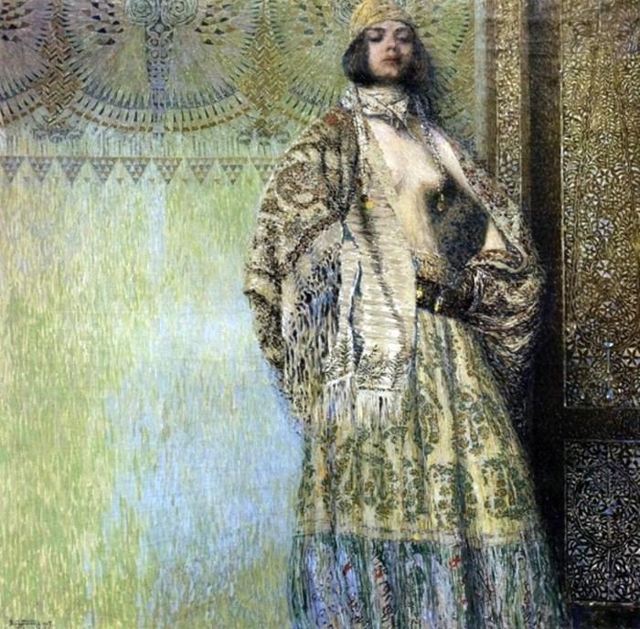 1.За цими мотивами була також написана картина вірменського художника Вардгеса Суренянца «Соломея», 1907 р. Джерело: http://galkoval.livejournal.com/46145.html