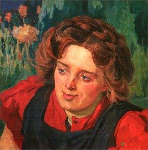 """Олекса Новаківський """"Портрет Леонтини Ґоґульської"""", 1900-ті рр."""