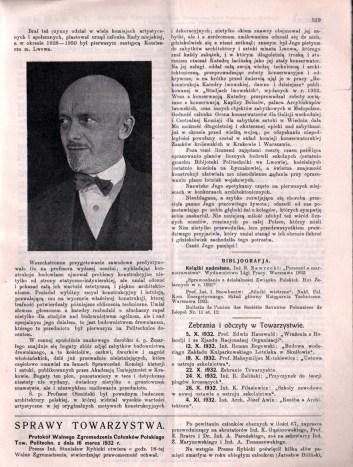 Некролог у Czasopismo techiczne (1932 рік)