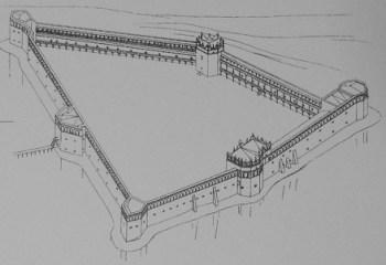 План Старосільського замку