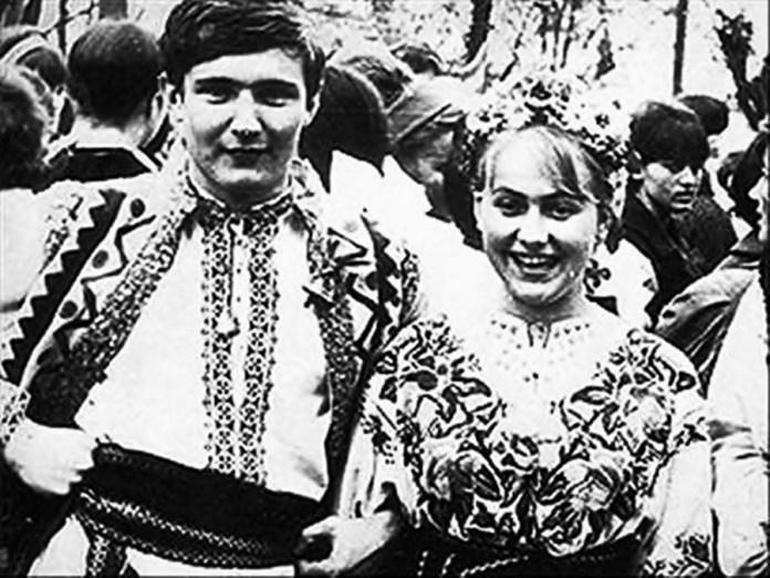 В. Івасюк та О. Кузнєцова на зйомках програми «Камертон доброго настрою»