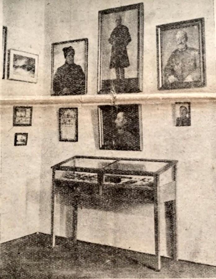 Одна зі стін виставки «Відділу історично-воєнних пам`яток» музею НТШ. 1936