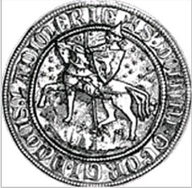 Печатка Юрія II 1335 року (джерело фото http://zamkovagora.blogspot.com/2013/04/blog-post_28.html)