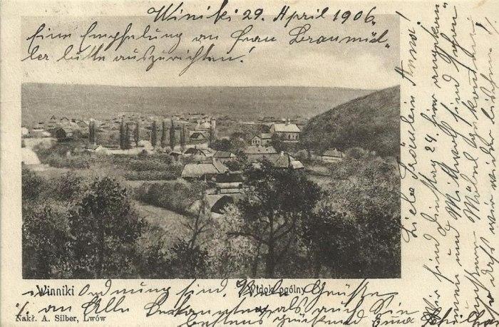 Вид на Винники, квітень 1906 р. Джерело: http://www.facebook.com/fediv.yuriy, автор: A. Silder