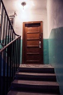 Львів, будинок на вул. Коциловського, 9 (на фото видно автентичний декор під'їзду )