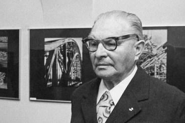 Роман Весоловський, на відкритті своєї виставки в Кракові, 1989 рік