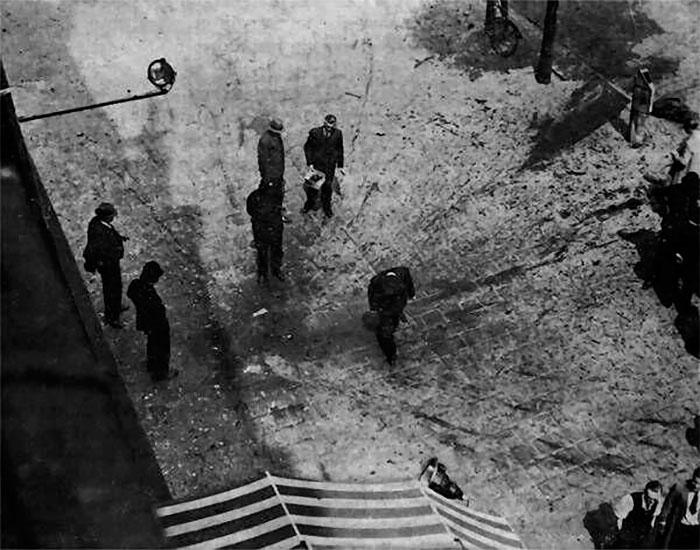 Місце вбивства Євгена Коновальця