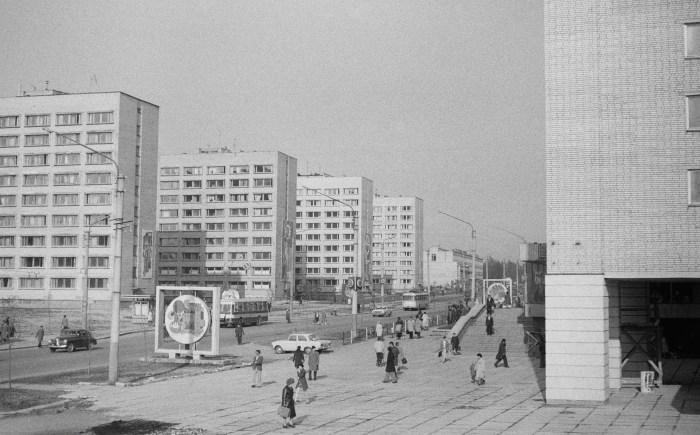 Новобудови на вул. Володимира Великого. Фото 1970-х рр.