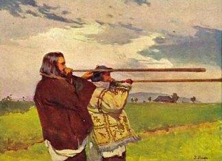 Іван Труш «Трембітарі» 1905р.