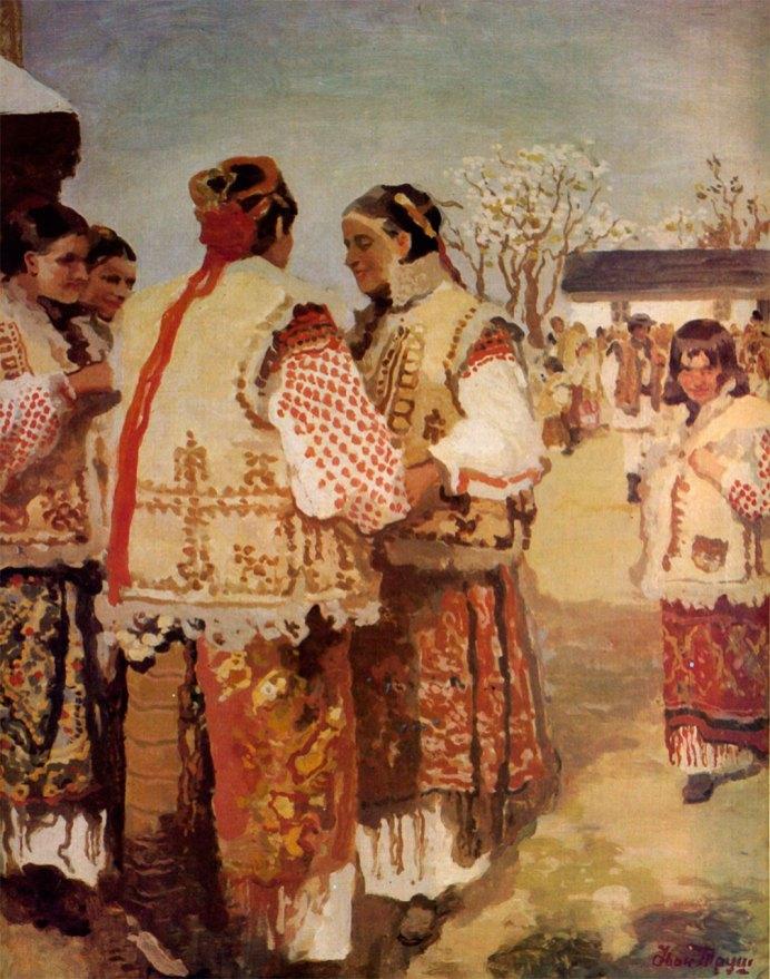 Іван Труш «Гуцулки біля церкви» перша половина XX ст.
