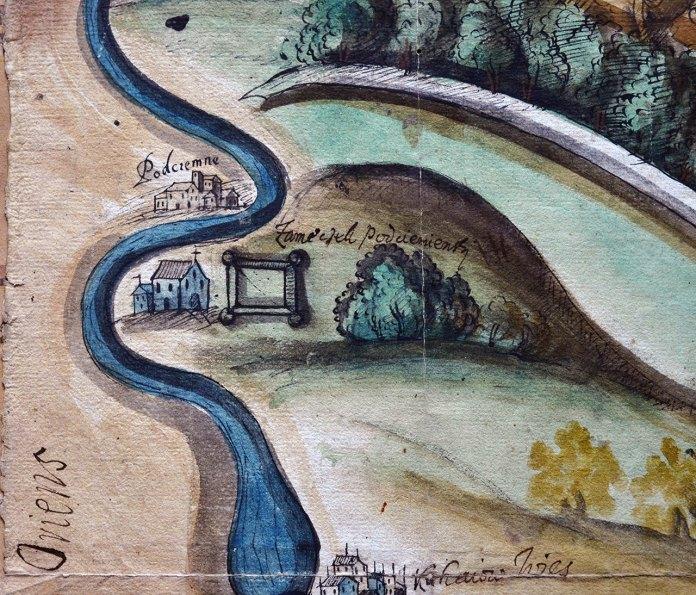 Фрагмент карти від 1654 року
