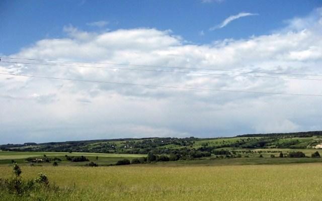 Вид на Віняву та Береги від доргоги Семенівка - Хоросно