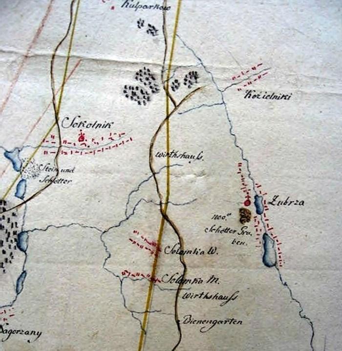 Фрагмент карти доріг з фонду Шнайдера