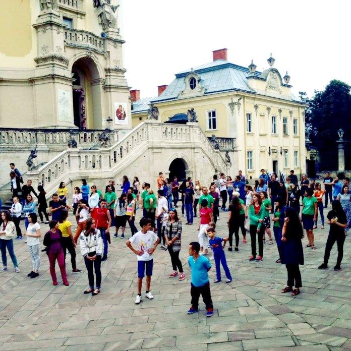 Зйомки кліпу до україномовної версії Гімну Світового Дня Молоді 2016