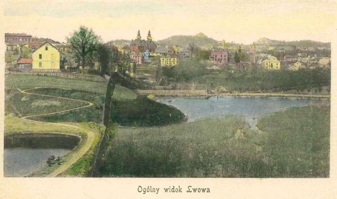 Зображення околиць Львова, на котрому помітно став Собка